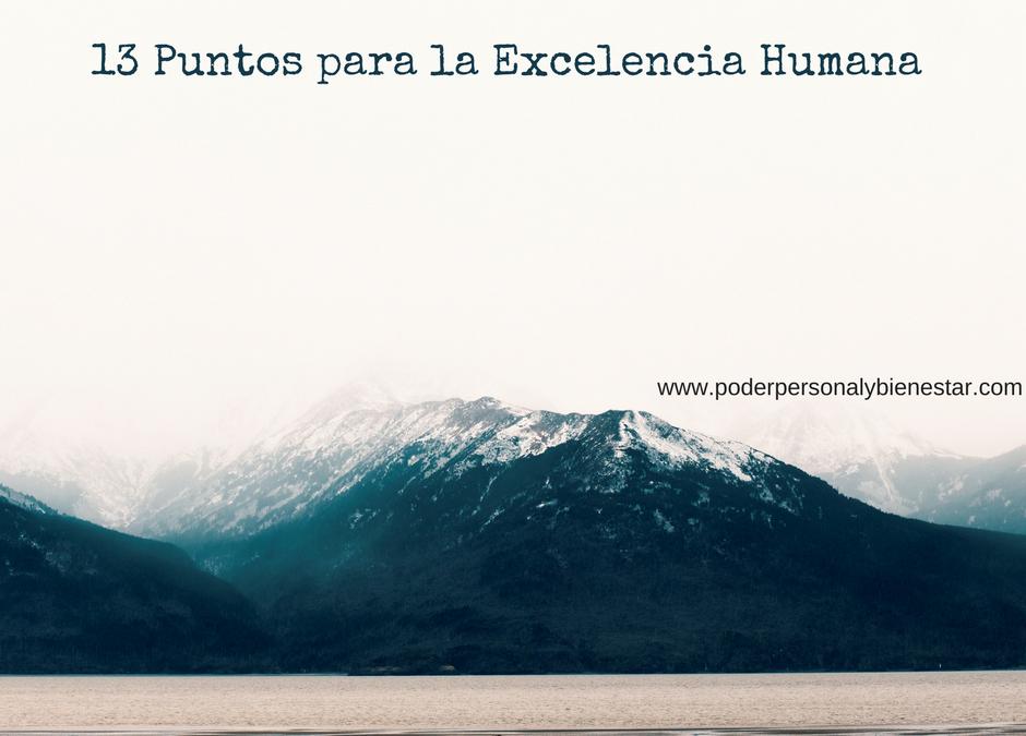 13 Puntos para la Excelencia Humana